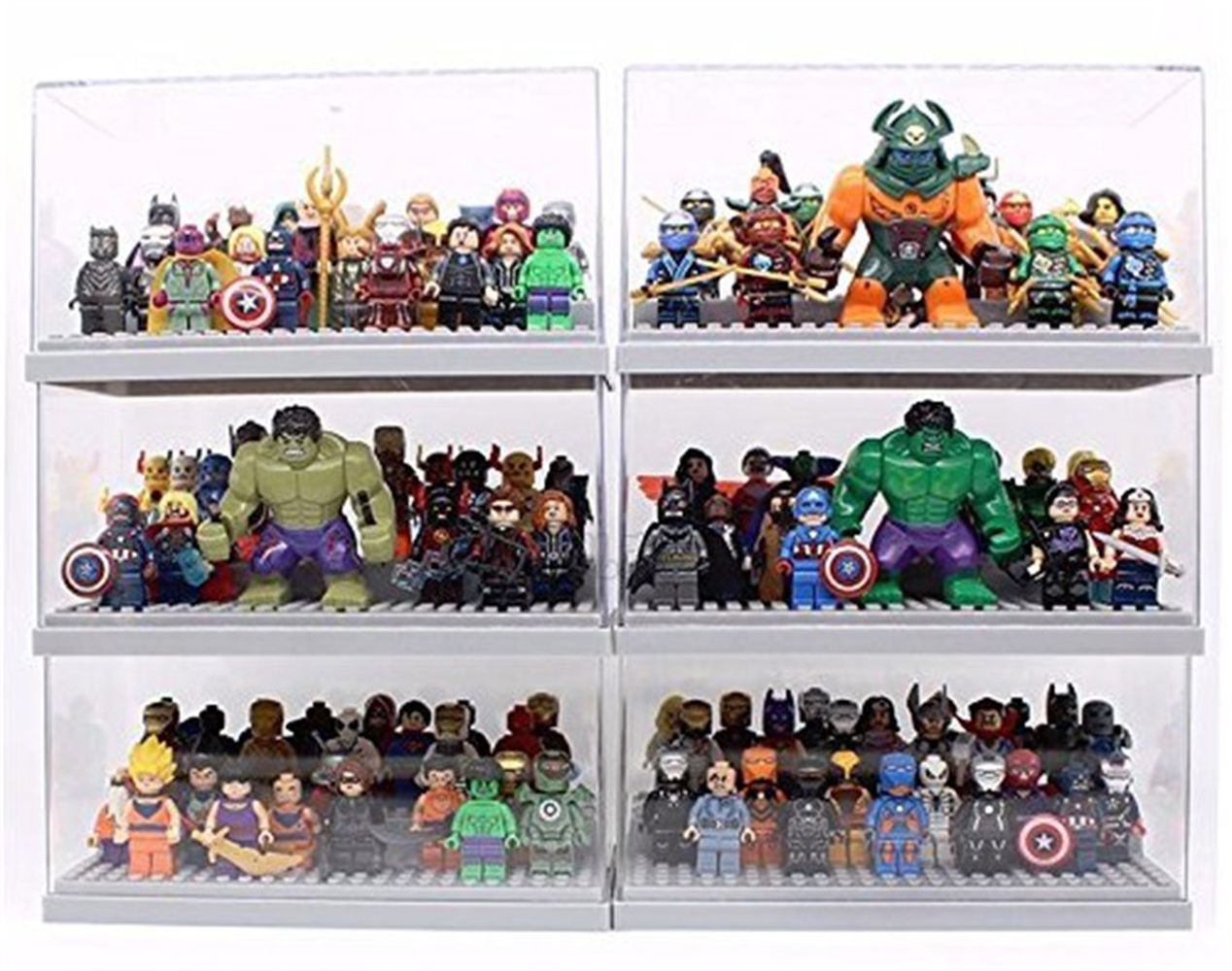 Display Case Box 2 3 Step Perspex Dust Proof Show Toy Figures 5colors