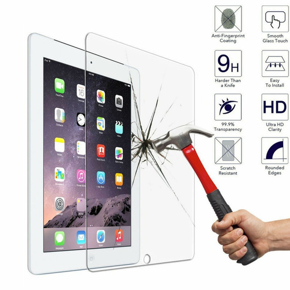 Details about iPad 2/3/4 Tempered Glass Screen Protector Clear Scratch Resistant